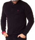 Long Sleeve Polos - Polo Shirt Classic Long Sleeve - Black