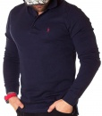 Ralph Lauren Long Sleeve Polos - Polo Shirt Classic Long Sleeve - Navy Blue - price €45.00 - on special price only in RefoStore with great discount: - 68%