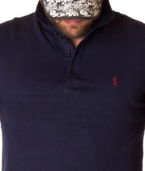 Ralph Lauren Long Sleeve Polos - Polo Shirt Classic Long Sleeve - Navy Blue