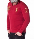 Long Sleeve Polos - Polo Shirt RL Club - Red