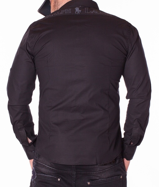 Ralph Lauren Long Sleeve Shirts - Shirt Supply Marine - Black