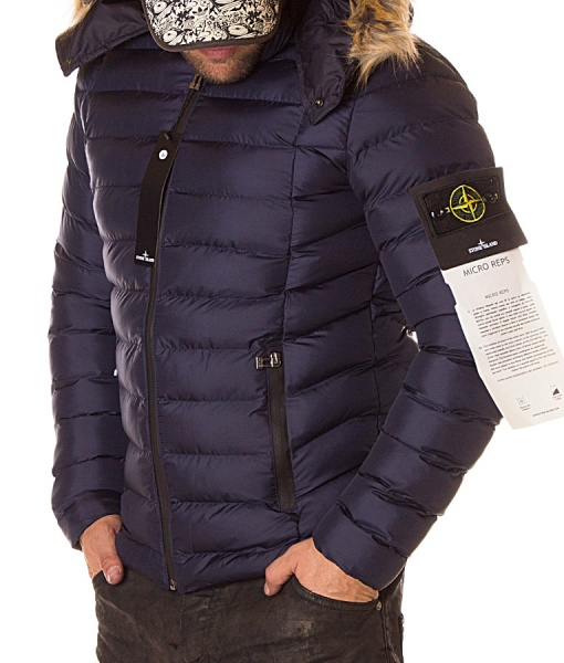 Stone Island Jackets - Winter Jacket Micro Reps - Navy Blue