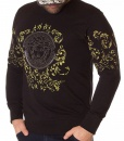 Sweaters - Black Winter Jumper Stone Printed