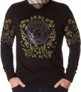 Versace Sweaters - Black Winter Jumper Stone Printed