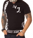 Versace Crew Neck T-shirts - Jeans T-shirt VJ Logo Black - price €50.00 - on special price only in RefoStore with great discount: - 73%