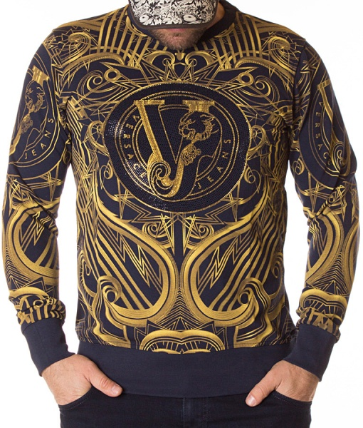 Versace Sweaters - Jeans Winter Jumper Navy Blue