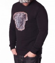 Versace Jumpers - Pulover Classic Head Logo - Black - price €80.00 - on special price only in RefoStore with great discount: - 74%