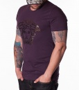 Versace Crew Neck T-shirts - Head Logo T-shirt - Purple - price €55.00 - on special price only in RefoStore with great discount: - 66%