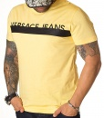 Versace Crew Neck T-shirts - T-shirt Jeans Spring Summer 19 Yellow - price €50.00 - on special price only in RefoStore with great discount: - 73%